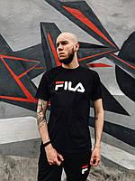Модная мужская футболка FILA, стильна чоловіча футболка Філа