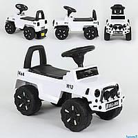 Машина-Толокар 808 G-8005 JOY (4) цвет БЕЛЫЙ, РУССКОЕ ОЗВУЧИВАНИЕ, СВЕТОВЫЕ ЭФФЕКТЫ, багажник, в коробке