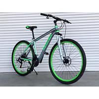 Велосипед алюминиевый 26 дюймов TopRider-424 салатовый (original Shimano) Суперлегкий.