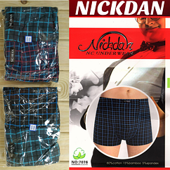 Трусы баталы мужские боксеры Nickdan  7076 underwear mens 5XL-6XL-7XL хлопок+бамбук ТМБ-1811501