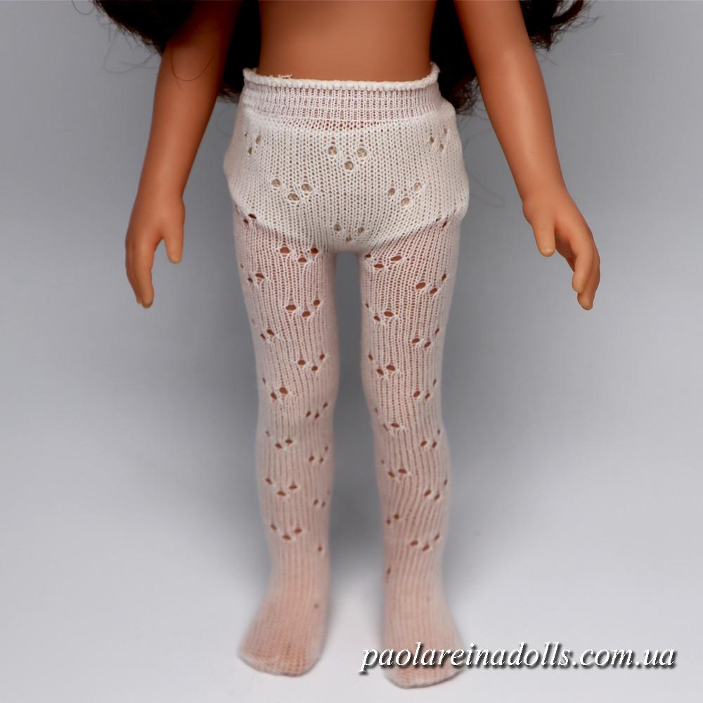 Колготки белые ажурные для кукол Паола Рейна