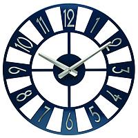 Настенные Часы Glozis Boston 35х35 см Темно-синий (B-026)