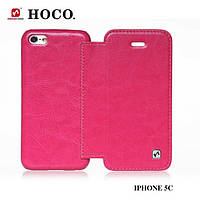 Чехол-книжка для телефона HOCO Crystal book leather case for iPhone 5C, rose red (HI-L038)