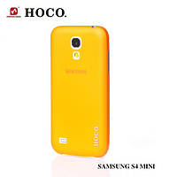 Силиконовый чехол для телефона HOCO Ultrathin transparent cover case for Samsung i9190 Galaxy S4 Mini, orange (HS-P003)
