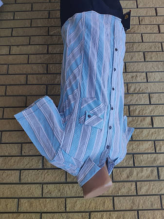 Рубашка мужская летняя коттоновая стрейчевая брендовая высокого качества SOUL SITY, Турция, фото 2