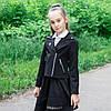 """Стильный школьный пиджак  для девочки """"Марине"""" косуха"""