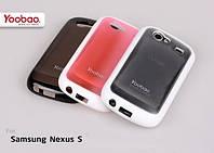 Силиконовый чехол для телефона Yoobao 2 in 1 Protect case for Samsung i9020 Nexus S, black (PCSAMI9020-BK)