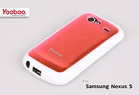 Силиконовый чехол для телефона Yoobao 2 in 1 Protect case for Samsung i9020 Nexus S, pink (PCSAMI9020-PK)