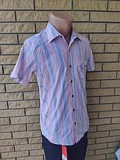 Рубашка мужская летняя коттоновая стрейчевая брендовая высокого качества SOUL SITY, Турция, фото 3