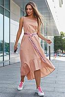 Молодежное стильное платье