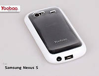 Силиконовый чехол для телефона Yoobao 2 in 1 Protect case for Samsung i9020 Nexus S, white (PCSAMI9020-WT)