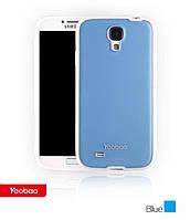 Силиконовый чехол для телефона Yoobao 2 in 1 Protect case for Samsung i9500 Galaxy S IV, blue (PCSAMS4-BL)