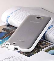 Силиконовый чехол для телефона Yoobao 2 in 1 Protect case for Samsung N7100 Galaxy Note II, white (PCSAMN7100-WT)