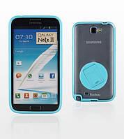 Силиконовый чехол для телефона Yoobao Rotating holder case for Samsung N7100 Galaxy Note II, blue (PCSAMN7100-HBL)