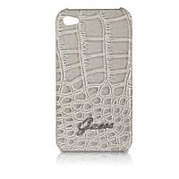 Пластиковый чехол-накладка для телефона GUESS Croco back cover for iPhone 4, beige (GUP4CRBE)