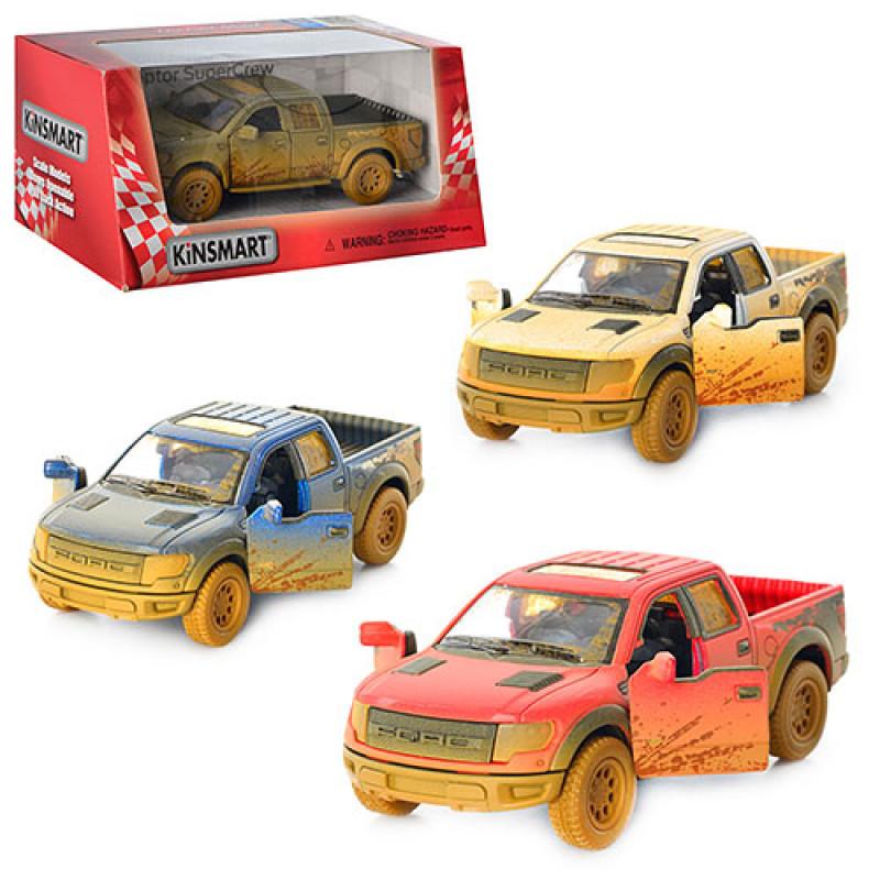 Машина Ford F-150 SVT Raptor металева, Kinsmart, 4 кольори, в коробці, 16-7-8 см