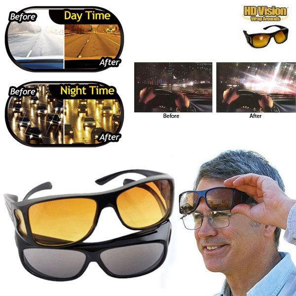 Окуляри анти-полиски для водіїв HD Vision 2 в 1 антиблікові окуляри, поляризаційні окуляри для авто