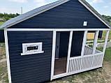 Дачний будинок 6 х 8 з вбудованою терасою, фото 4