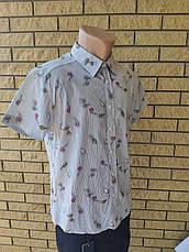 Рубашка мужская летняя коттоновая брендовая высокого качества SOUL SITY, Турция, фото 3