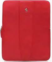 Карман Ferrari Modena leather sleeve with zipper for iPad, red (FESLIPRE)