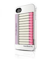 Чехол для телефона MUSUBO Matchbook Pro back cover for iPhone 4, white (MU11009WE)