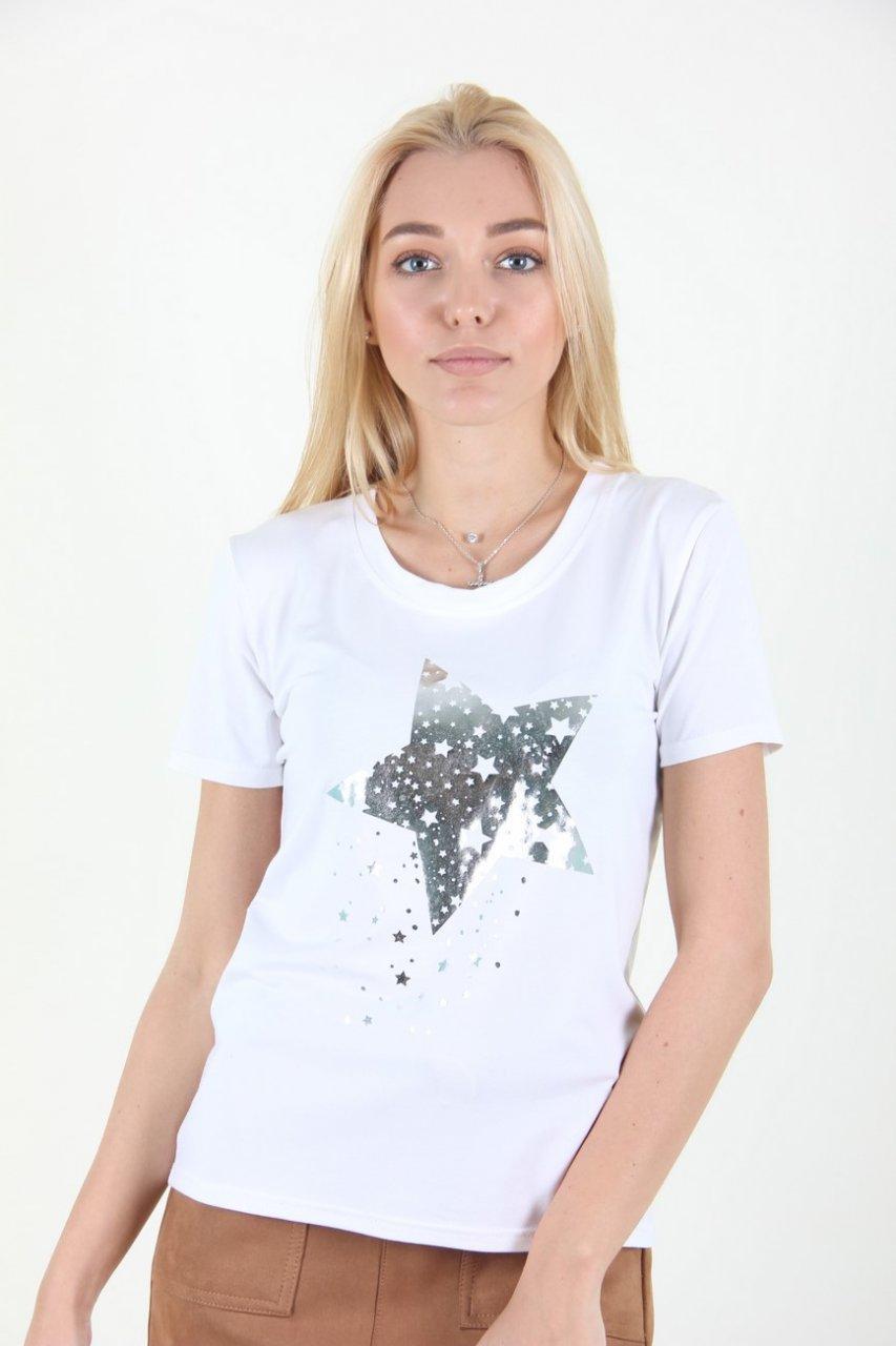 Повсякденна біла футболка розмір 44,46,48,50,52