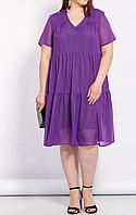 Платье шифоновое свободного кроя, разные расцветки с 48-98 размеры, фото 1