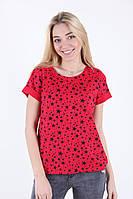 Красива червона приталені футболка розмір 44,46,48,50,52