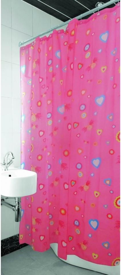 Занавеска для душа ARYA Pink Love 180x180 см.