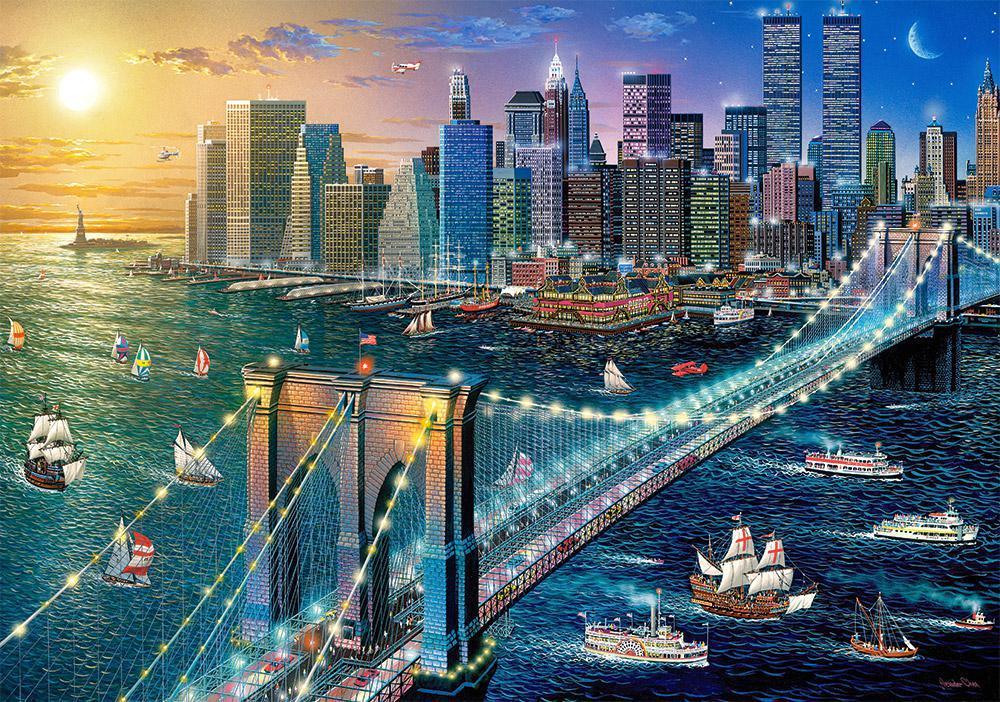 Пазлы Нью-Йорк - Бруклинский мост, 500 эл.