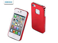 Чехол для телефона Momax Ultra Tough Shiny case for iPhone 4, red (CHUTAPIP4SER)