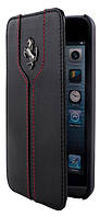 Чехол-книжка для телефона Ferrari Montecarlo book leather case for iPhone 5C, black (FEMTFLBKPMBL)