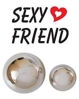 Шарики вагинальные металл без шнурка Sexy Friend D 2-3 см