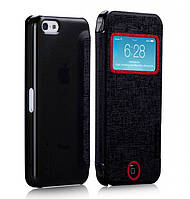 Чехол-книжка для телефона Momax Flip View case for iPhone 5C, black (FVAPIP5CD)