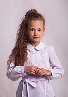 Блузка Свит блуз  мод.1050 с белой вышивкой р.128
