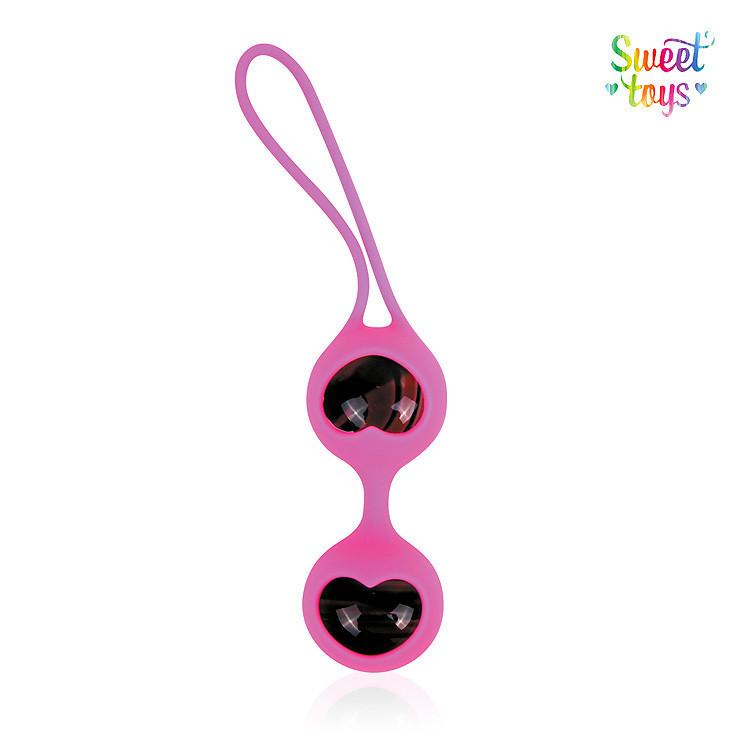 Шарики вагинальные для тренировки интимных мышц SWEET TOYS D 33 мм, вес 75 г розового цвета