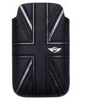 Чехол для телефона MINI Cooper Union Jack leather sleeve case for iPhone 4/4S, black (MNPUIPUJBL)
