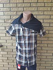 Рубашка мужская летняя коттоновая  брендовая, воротник-хомут высокого качества SCORE, Турция, фото 2