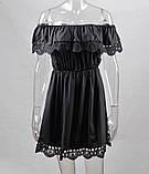 Женское стильное хлопковое платье прошва, фото 3