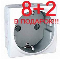 АКЦИЯ!!! (8+2 В ПОДАРОК) Розетка Schneider-Electric Unica с заземлением белый MGU3.036.18*10