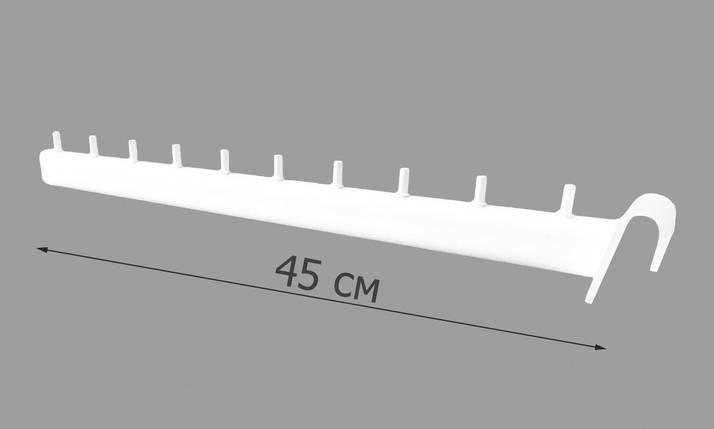 Кронштейн (флейта) на перемычку белый 45 см (б/у), фото 2