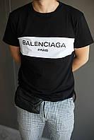 Модная мужская футболка Balenciaga, стильна чоловіча футболка Баленсіага