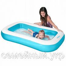Детский надувной бассейн. 166х100х28 см. Объем: 128 л. intex 57403, фото 3