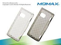 Силиконовый чехол-накладка для телефона Momax i-Crystal Case 2 for Nokia X6 (transprent black)