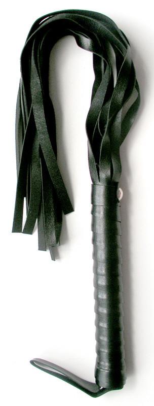 Плеть из винилового материала черного цвета Notabu L рукояти 160 мм L хвоста 335 мм PVC