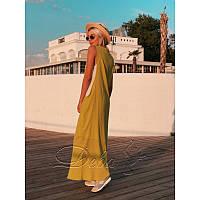Платье из марлёвки №315 Дева Размер:42-46; Цвет:Фисташка