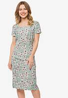 Легкое летнее женское полуприталенное платье лён-вискоза 90359/2, фото 1