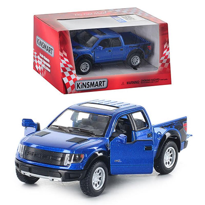 Машинка Kinsmart Ford F-150 SVT Raptor Supercrew, металева, в коробці, 16-8-7,5 см