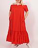 Летнее длинное платье на бретелях, разные расцветки с 48-98 размер