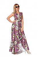 Модное молодежное платье в красивый цветочный принт
